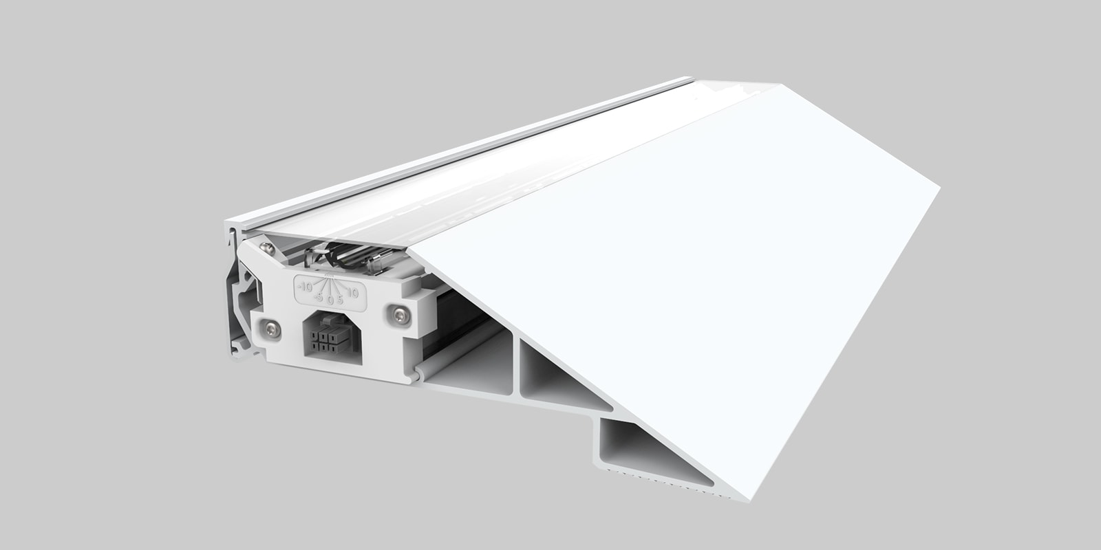 Two extrusion profiles each with two mounting options allow for versatile cove lighting installation