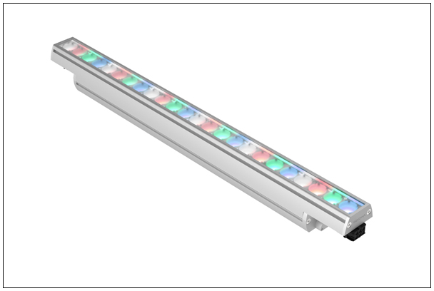 RGBW, Architainment Color, dynamic options, Winline 500 Series, Winona, linear accent luminaire, accent lighting, WSL501, linear surface mount